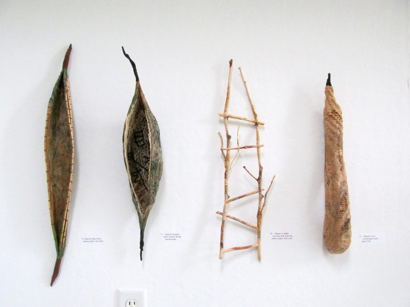 Grouping of Four Fiber Sculptures